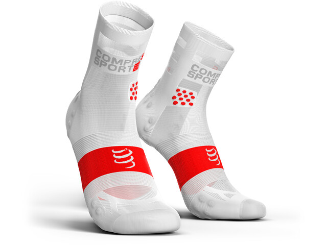 Compressport Pro Racing V3.0 Ultralight Run High Calcetines, white